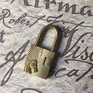 Vintage Brand Lock Pendant